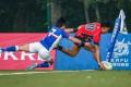 Hong Kong's Eric Kwok Pak-nga scores in the Hong Kong U20 Sevens Series final against South Korea. Photo: Asian Rugby Football Union