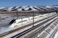 Bullet trains can reach speeds of up to 250km/h on the newly opened 1,776km line. Photo: Xinhua