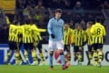 Manchester City's Matija Nastasic is among those being paid thousands of pounds a week to not play football. Photo: EPA