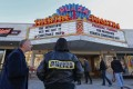 People attend The Interview showing in Atlanta. Photo: EPA