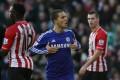 Chelsea's Eden Hazard celebrates after scoring in their 1-1 draw with Southampton. Photo: AP