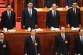 Ling Jihua (bottom left) attending a CPPCC session in March last year, alongside some of the China's top leaders. Photo: Simon Song