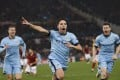 Samir Nasri believes Manchester City have experience on their side in their battle for the premier League. Photo: AP