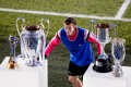 Gareth Bale with Real Madrid's trophies. Photo: AFP