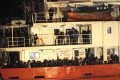 Cold and terrified, the mostly Syrian refugees pack the decks of the Blue Sky M cargo ship at Gallipoli harbour. Photo: Reuters