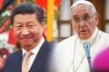 President Xi Jinping (left) and Pope Francis. Photos: AFP