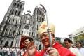 New Cardinal Pierre Nguyen Van Nhon in Hanoi. Photo: Reuters
