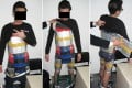 The alleged Hong Kong smuggler was found with the 94 iPhone 6 and iPhone 5s models strapped to his thighs, chest and stomach. Photo: Shenzhen Customs