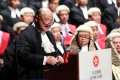 Chief Justice Geoffrey Ma Tao-li speaks at the ceremonial opening of the legal year at City Hall. Photo: Sam Tsang