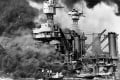 American battleship USS West Virginia ablaze in Pearl Harbour after the Japanese attack on December 7, 1941. Photo: Reuters