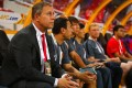 China manager Alain Perrin celebrated after guiding China into the last eight but a tricky tie with Australia or South Korea now awaits in the quarter-finals. Photo: AFP