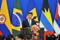 Chinese President Xi Jinping addresses the opening ceremony of the first ministerial meeting between China and the Community of Latin American and Caribbean States.