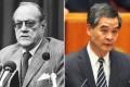 Former governor Sir David Trench (left) and Leung Chun-ying. Photos: Chan Kiu, Sam Tsang