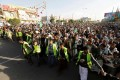 People demonstrate to show support for the Houthi movement in Sanaa. Photo: Reuters