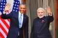 US President Obama with Indian Prime Minister Modi. Photo: EPA