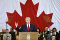 Canadian Prime Minister Stephen Harper speaks about the seeping new anti-terror law in Richmond Hill, Ontario on Friday. Photo: Reuters