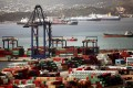 Greece's largest port in Piraeus, which Cosco has bid for. Photo: AFP