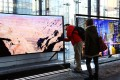 Voice recognition technology in the Samsung's internet connected TVs (pictured) can capture and transmit nearby conversations. Photo: Bloomberg