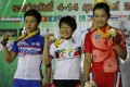 Leung (right) on the podium. Photo: handout