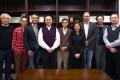 HKU law professors, from left: Fu Hualing, Thomas Cheng, Marco Wan, Michael Hor, Albert Chen, Lusina Ho, Scott Veitch, Zhang Xianchu and Wilson Chow. Photo: Jonathan Wong