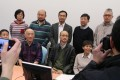 Fighting for academic freedom: the campaign group, including Joseph Chan, sitting third right, meet the press. Photo: Felix Wong