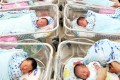 A file photo taken in 2011 of new-born babies are taken care by a nurse at Precious Blood Hospital (Caritas) at Sham Shui Po. The notion of parents-to-be choosing a lucky birth date for their children is not a new one in Hong Kong. Photo: Sam Tsang