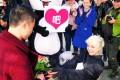 Sasha, a Ukrainian living in Sichuan, donned a panda suit to propose to her Chinese boyfriend in Chengdu. Photo: SCMP Pictures