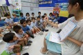 Children in a Hong Kong pre-school class. Early learning is crucial to success in learning two or more languages, says neuroscientist Dr Laura-Ann Petitto Photo: Nora Tam