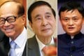 The world's top Chinese billionaires in order based on wealth rankings: (from left) Hutchison Whampoa and Cheung Kong magnate Li Ka-shing, Henderson Land tycoon Lee Shau-kee and Alibaba billionaire Jack Ma. Photos: EPA, Felix Wong, Reuters