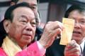 Lau Wong-fat draws number 20. Photo: Dickson Lee