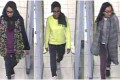 British teenagers (L-R) Shamima Begun, Amira Abase and Kadiza Sultana walk through security at Gatwick airport.Photo: Reuters