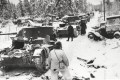 Finnish troops inspect destroyed Soviet vehicles in Finland, on January 17, 1940, during the winter war. Photos: US Library of Congress; Daniel Allen