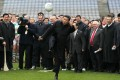 Xi Jinping shows his skills on a trip to Dublin. Photo: AFP