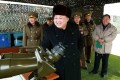 Kim Jong-un pictured during a military drill in North Korea. Photo: AFP