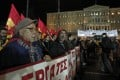 Communist Party supporters protest in Athens against the anti-austerity memorandum between the EU and Greece. Photo: EPA