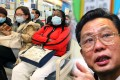 Dr Zhong Nanshan (right) believed the risk of the Hong Kong outbreak developing into an epidemic was low. Photos: Edward Wong, Martin Chan