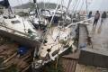 Boats damaged by Cyclone Pam in the Vanuatu capital of Port Vila. Photo: AP