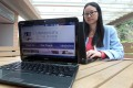 Cao Tingting is gaining business knowledge online while finishing her doctoral degree at HKU. Photo: Edward Wong