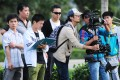 Online film director Mai Tian (third from right) directing his microfilm Glorious Days in 2012.
