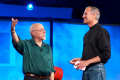 Walt Mossberg with the late Steve Jobs in 2007. Photo: Creative Commons