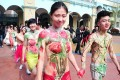 Couples in body paint and dressed only their underwear hold 'naked weddings in Zhejiang province as a protest against modern Chinese values, which places greater focus on money than love. Photo: SCMP Pictures