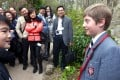 Parents from China, looking for a private education for their children in the UK, look around Kingswood school in Bath and meet the head boy of the prep school. Photo: China Foto Press
