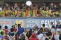 Australia savour their moment of glory after beating USA in the Plate final at the Hong Kong Sevens. Photos: Sam Tsang/SCMP