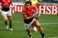 Rowan Varty on the charge during Hong Kong's 17-12 pool game loss to sevens newcomers Brazil. Photo: World Rugby