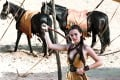 """""""The whip represents who Nymeria is,"""" Henwick says of her character in the hit series."""