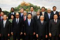 President Xi Jinping (centre) with other leaders at the launch ceremony of the Asian Infrastructure Investment Bank last October in Beijing. Photo: Reuters