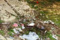 Rubbish strewn by a hillside in Shing Mun Country Park. Photo: SCMP Pictures