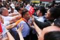 Pro-democracy protesters clash with rivals. Photo: Sam Tsang