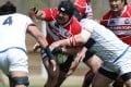 Japan captain and prop Kensuke Hatakeyama will be a driving force against Hong Kong in their clash in Tokyo. Photo: ARFU