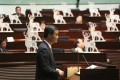 """Leung Chun-ying at Legco yesterday. The chief executive said there was """"zero chance"""" of Beijing reversing its decision on guidelines for electoral reform. Photo: Felix Wong"""